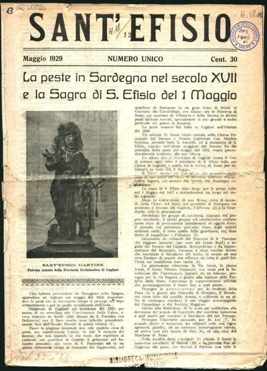 Documento storico 1929